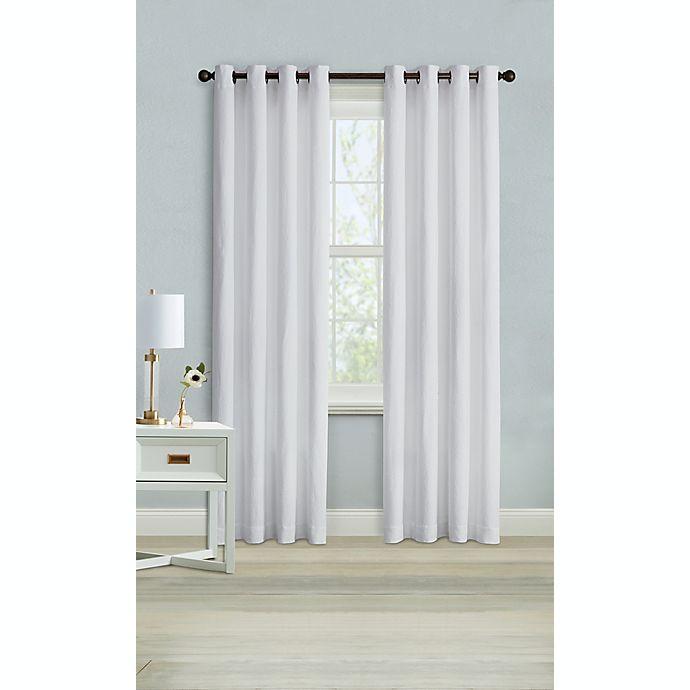 Alternate image 1 for Wamsutta® Montville 108-Inch Grommet Light Filtering Window Curtain Panel in Bright White