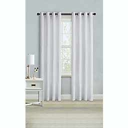Wamsutta® Montville 108-Inch Grommet Light Filtering Window Curtain Panel in Bright White