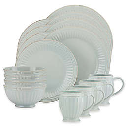 Lenox® French Perle Groove 16-Piece Dinnerware Set in Ice Blue
