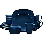 Noritake® Navy on Navy Swirl 16-Piece Square Dinnerware Set