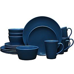 Noritake® Navy on Navy Swirl 16-Piece Coupe Dinnerware Set