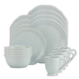 Lenox® French Perle Bead 16-Piece Dinnerware Set in Ice Blue