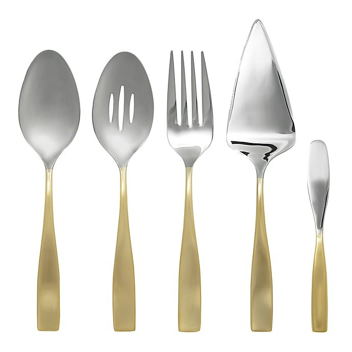 Alternate image 1 for Gourmet Settings Moments Eternity 5-Piece Hostess Set in Gold