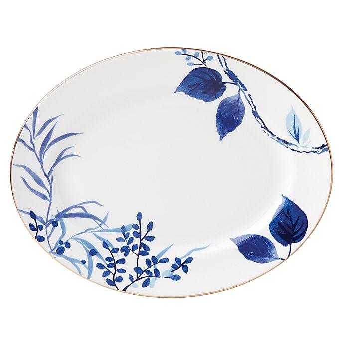 Alternate image 1 for kate spade new york Birch Way™ Oval Platter in Indigo