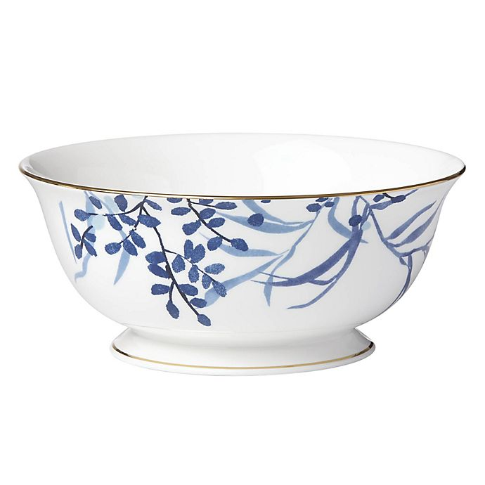 Kate Spade New York Birch Way Serving Bowl In Indigo Bed Bath Beyond