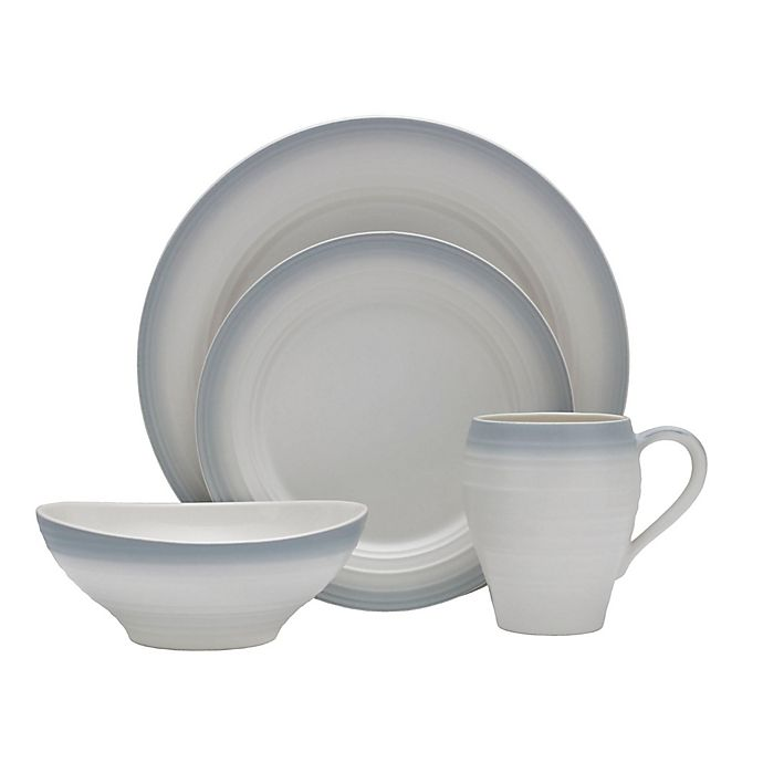 Alternate image 1 for Mikasa® Swirl Ombre 4-Piece Place Setting in Grey