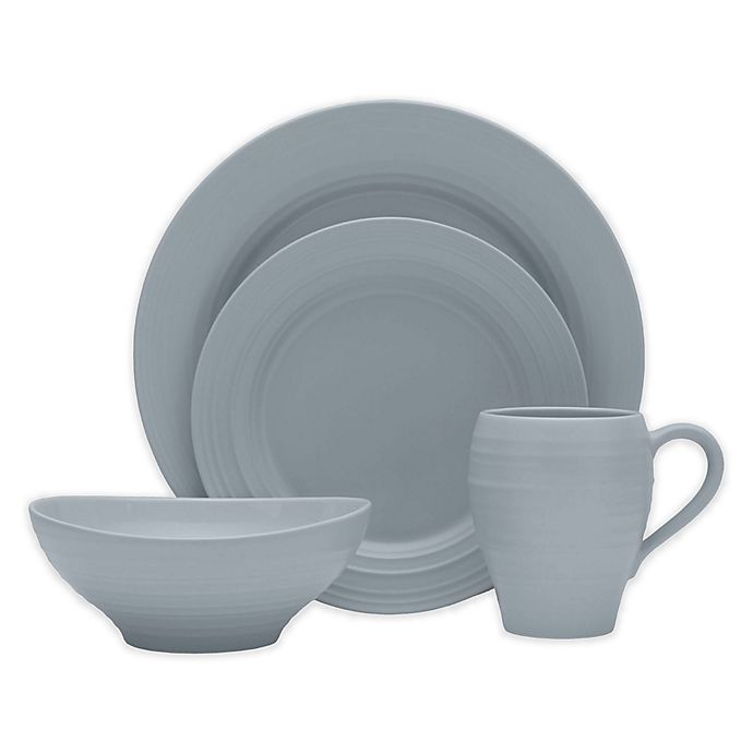 Alternate image 1 for Mikasa® Swirl 4-Piece Place Setting in Grey