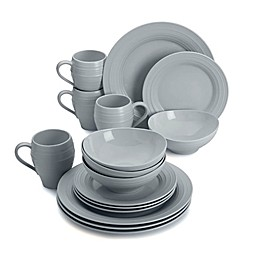 Mikasa® Swirl 16-Piece Dinnerware Set in Grey