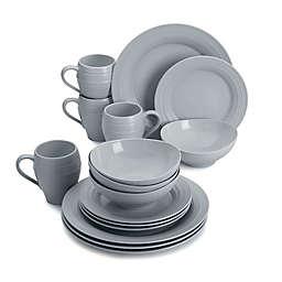 Mikasa® Swirl 16-Piece Dinnerware Set in Grey
