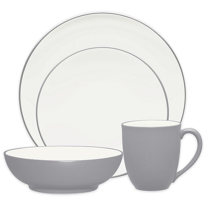 Alternate image 1 for Noritake® Colorwave Coupe 4-Piece Place Setting in Slate