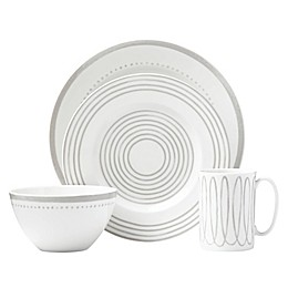 kate spade new york Charlotte Street™ West 4-Piece Place Setting in Grey