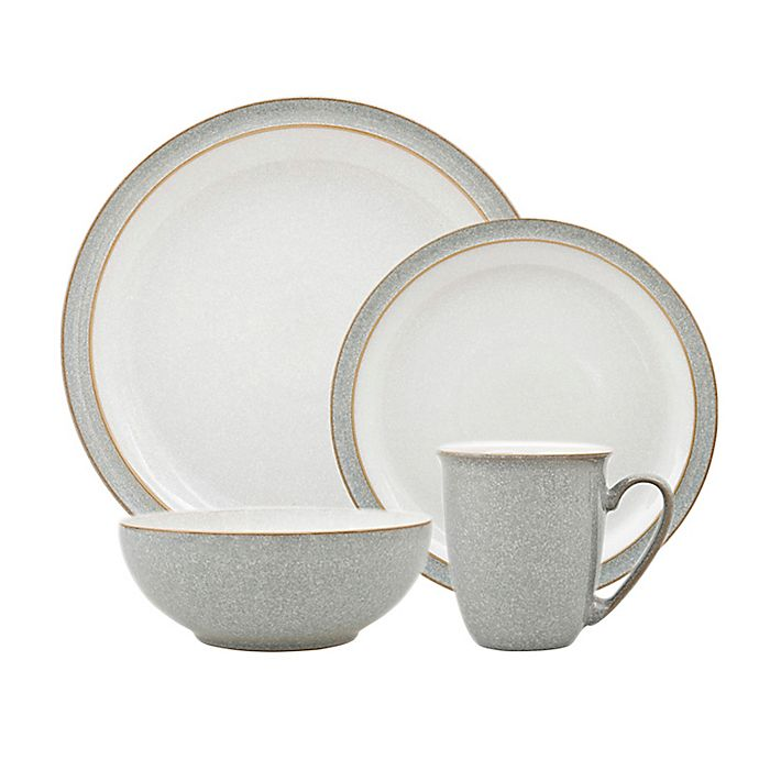 Alternate image 1 for Denby Elements Dinnerware Collection in Light Grey