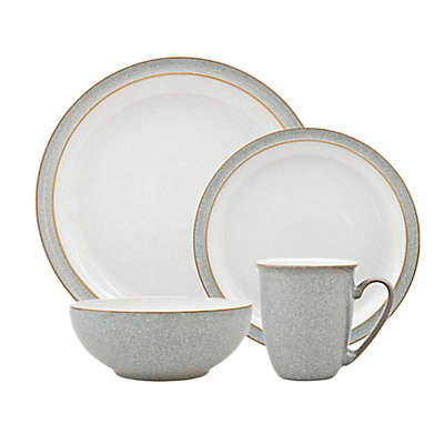 Denby Elements 4-Piece Place Setting in Light Grey