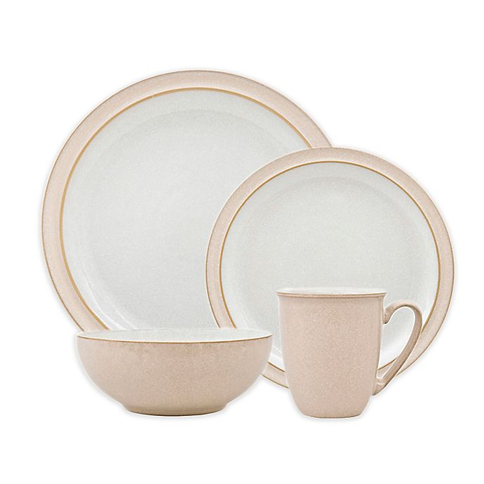 Alternate image 1 for Denby Elements 4-Piece Place Setting in Natural