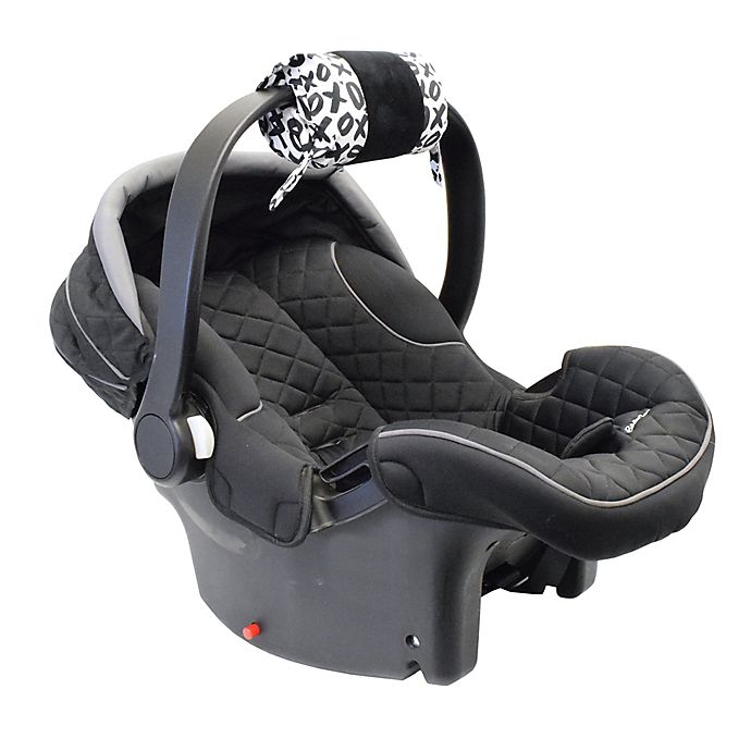 Alternate image 1 for Itzy Ritzy® Ritzy Wrap™ Infant Car Seat Handle Arm Cushion in XOXO Black/White
