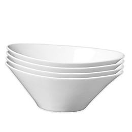 Fortessa® Accentz Oval Bowls in White (Set of 4)
