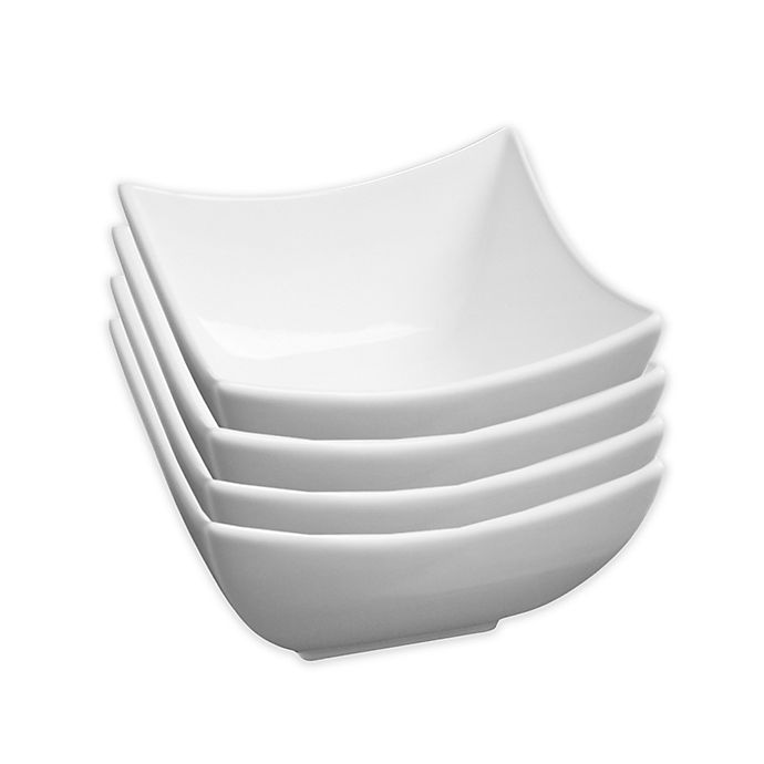 Alternate image 1 for Fortessa® Accentz Fiji 3.25-Inch Square Bowls (Set of 4)