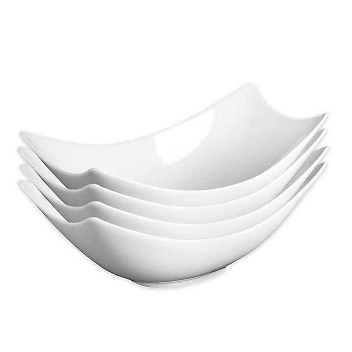 Alternate image 1 for Fortessa® Accentz Fiji 4.75-Inch Rectangular Bowls (Set of 4)