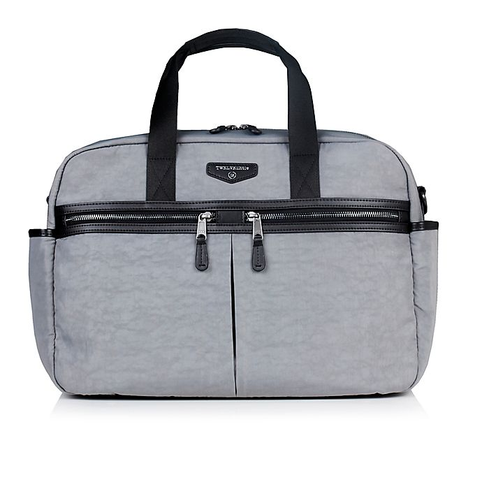 aae8e2147bf2 TWELVElittle Unisex Courage Satchel Diaper Bag in Grey | Bed Bath ...