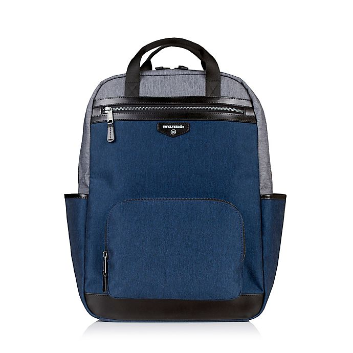 Alternate image 1 for TWELVElittle Unisex Courage Backpack Diaper Bag in Grey/Navy