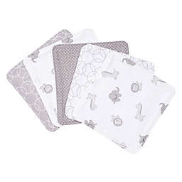 Trend Lab® 5-Pack Circles Washcloths in Grey