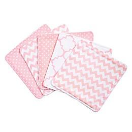 Trend Lab® 5-Pack Pink Sky Washcloths