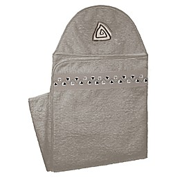 kushies® Hearts Hooded Towel in Mocha