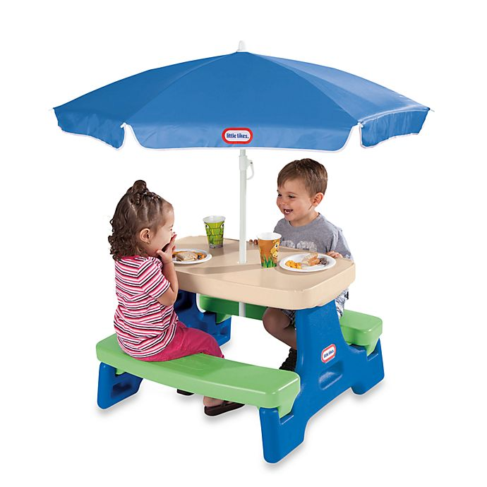Alternate image 1 for Little Tikes™ Easy Store™ Jr. Play Table with Umbrella