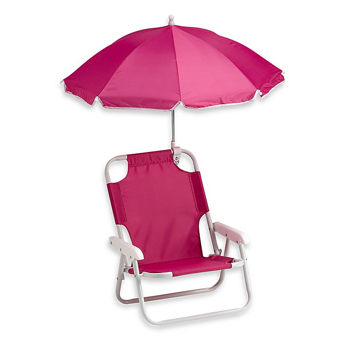 Alternate image 1 for Redmon Baby Beach Chair with Umbrella in Pink