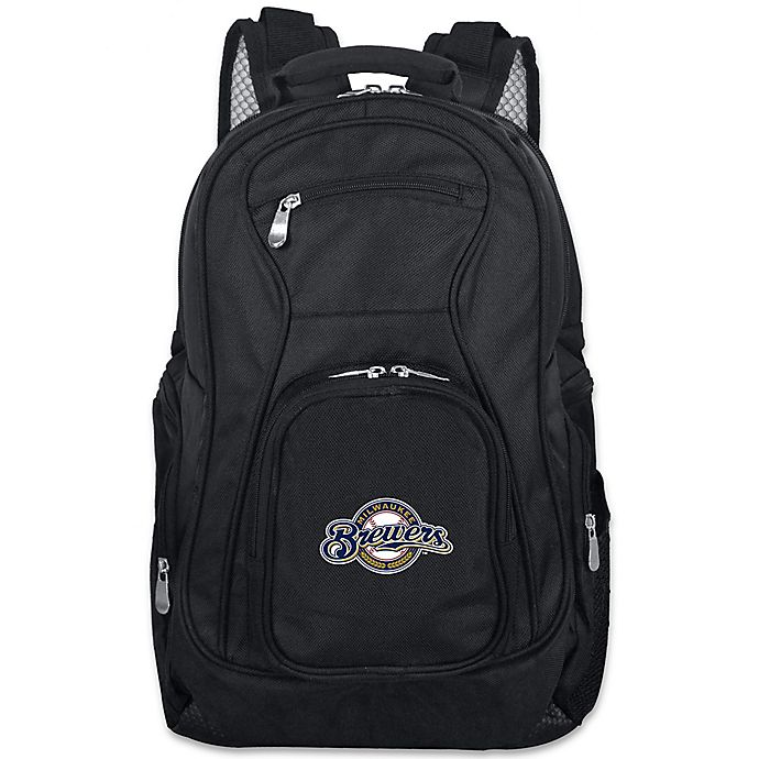 Alternate image 1 for MLB Milwaukee Brewers 19-Inch Laptop Backpack