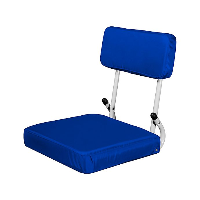 Alternate image 1 for Plain Hard Back Stadium Seat in Royal Blue