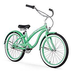 Firmstrong Bella Women's 24-Inch 3-Speed Beach Cruiser Bike in Dark Mint