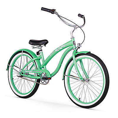 Firmstrong Bella Women's 24-Inch 3-Speed Beach Cruiser Bike in Dark Mint