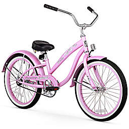 """Firmstrong Bella Classic Girl's 20"""" Single Speed Cruiser Bicycle in Pink"""