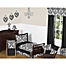 Part of the Sweet Jojo Designs Isabella Toddler Bedding Collection in Black/White