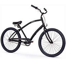Firmstrong CA-520 Men's 3-Speed Beach Cruiser Bike in Matte Black
