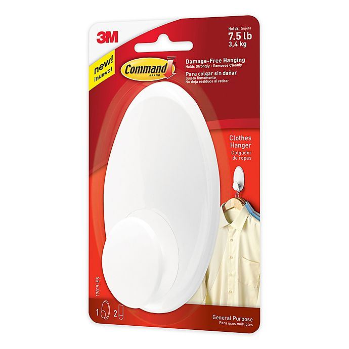 Alternate image 1 for 3M Command™ Clothes Hanger in White