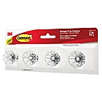 3M Command™ Jewelry and Scarf Rack with Crystal Knobs in White
