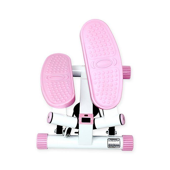 Alternate image 1 for Sunny Health & Fitness® Adjustable Twist Stepper in Pink