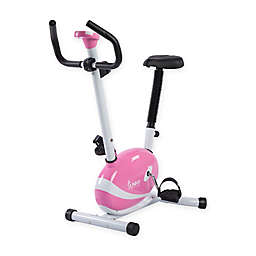 Sunny Health & Fitness® Magnetic Upright Bike in Pink