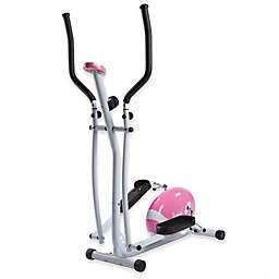 Sunny Health & Fitness® Magnetic Elliptical Bike in Pink