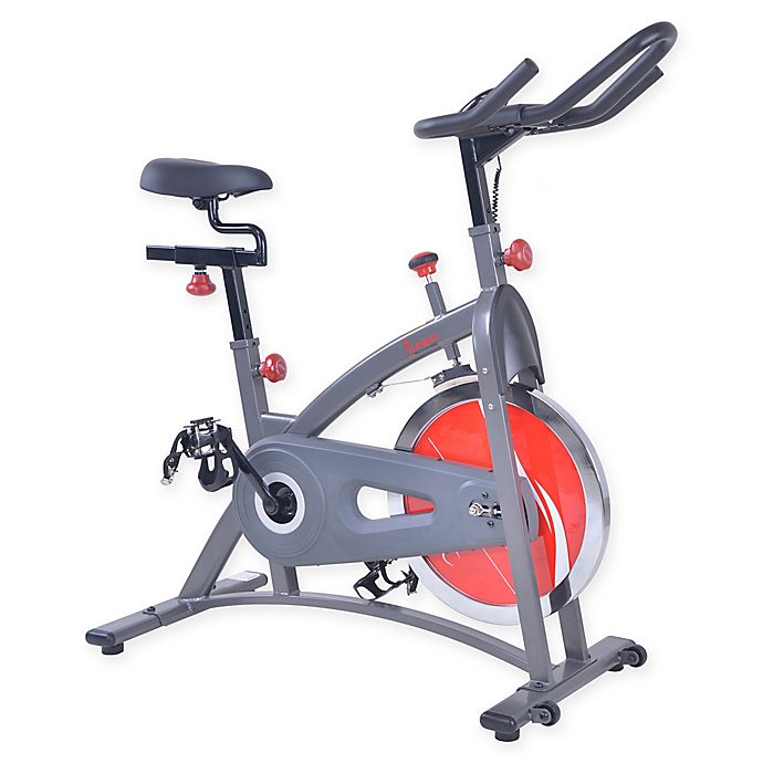 Alternate image 1 for Sunny Health & Fitness® Chain Drive Indoor Cycling Bike in Grey