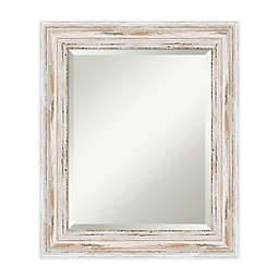 Amanti Art Alexandria 41-Inch x 29-Inch Framed Wall Mirror in White