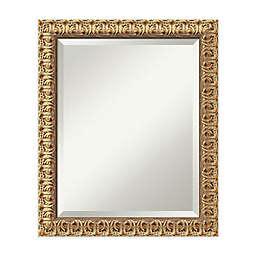 Amanti Art Florentine 20-Inch x 24-Inch Rectangular Wall Mirror in Gold