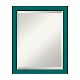 22-Inch Rustic French Mirror in Teal