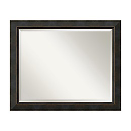 Amanti Art Signore 40-Inch x 28-Inch Framed Wall Mirror in Bronze