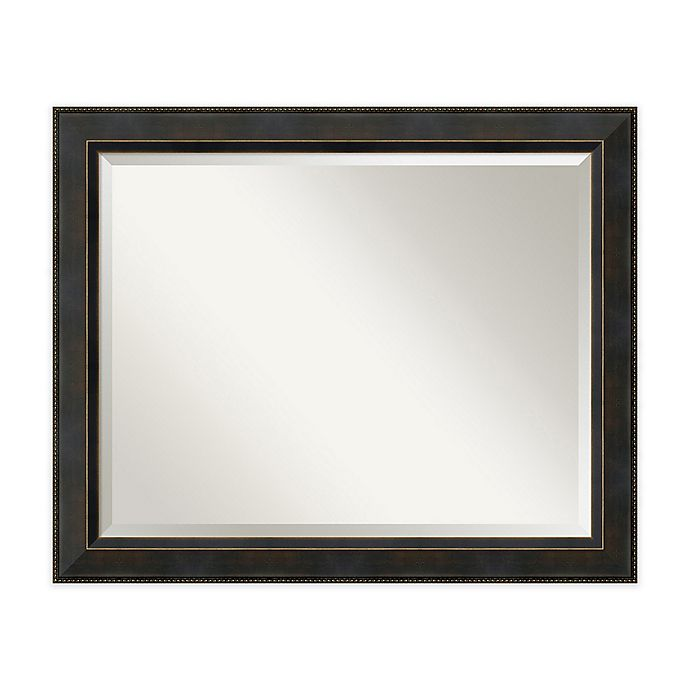 Alternate image 1 for Amanti Art Signore 40-Inch x 28-Inch Framed Wall Mirror in Bronze