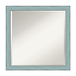 Amanti Art Sky 22-Inch Square Framed Wall Mirror in Blue
