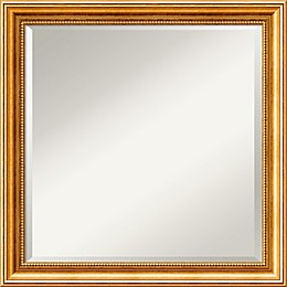 Amanti Art Townhouse Gold 24-Inch Square Framed Wall Mirror in Gold