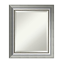 21-Inch x 25-Inch Vegas Rectangular Mirror in Burnished Silver